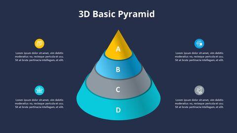 3D 콘 피라미드 차트 다이어그램_08