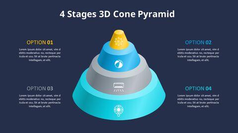 3D 콘 피라미드 차트 다이어그램_09