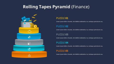 3D 콘 피라미드 차트 다이어그램_11