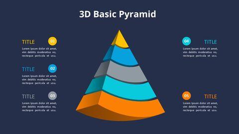 3D 콘 피라미드 차트 다이어그램_12