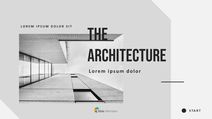 Architecture Simple PowerPoint Template Design_01