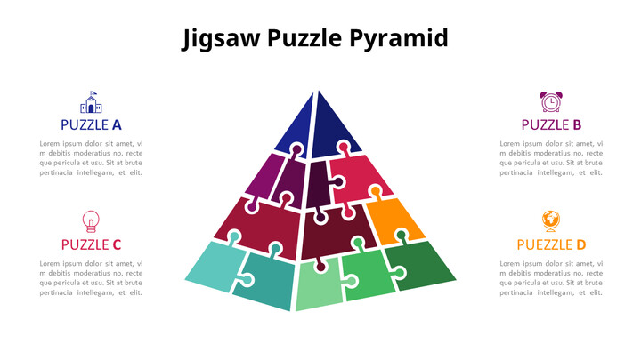 Jigsaw Puzzle Pyramid Chart Diagram_01