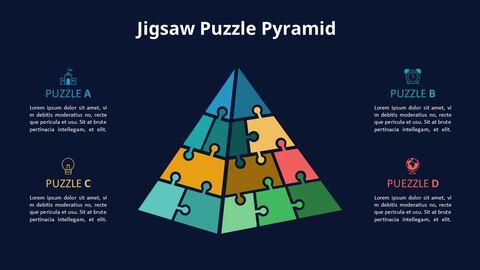 Jigsaw Puzzle Pyramid Chart Diagram_07
