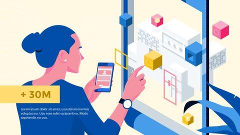 응용 프로그램 피치덱 디자인 마케팅용 프레젠테이션 PPT_06