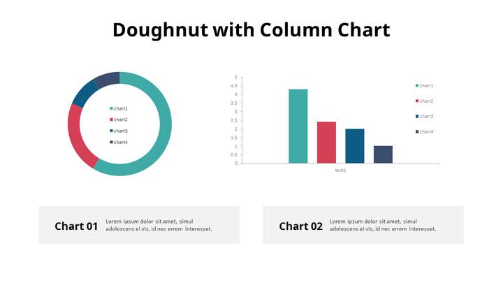 Doughnut with Column Mix Chart_01
