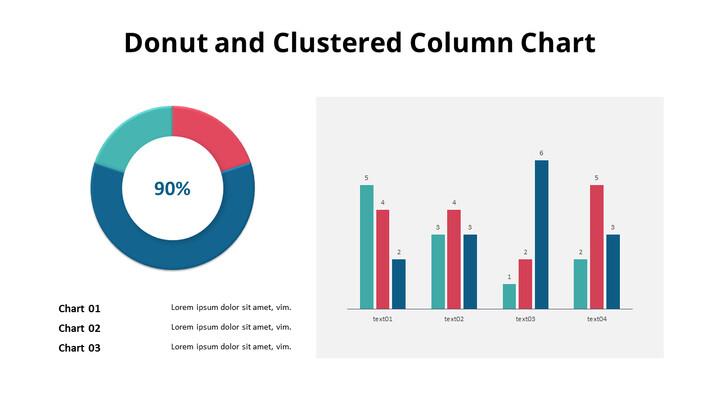 Doughnut with Column Mix Chart_02
