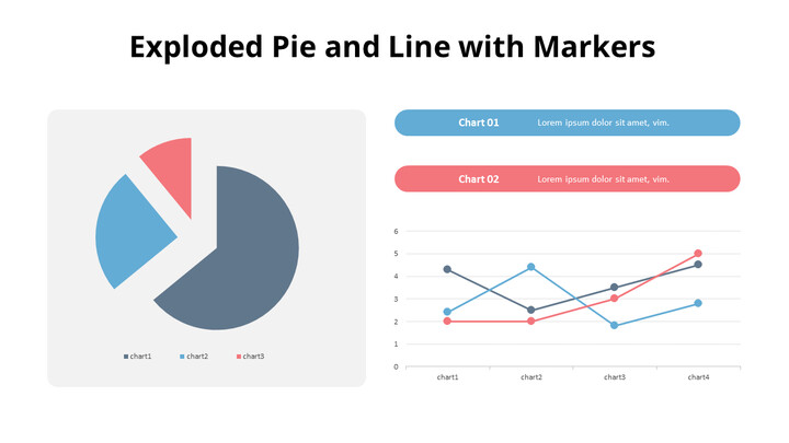 Exploded Pie and Line Chart_01