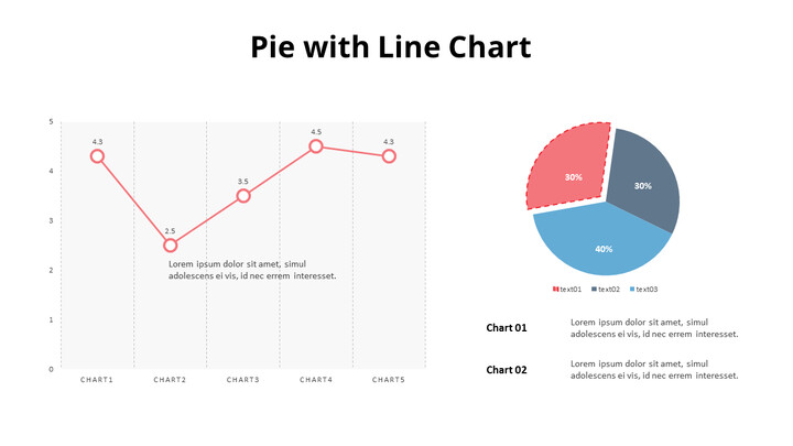 Exploded Pie and Line Chart_02