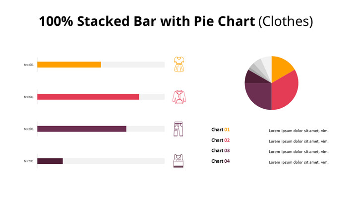 Pie and 100% Stacked BarChart_02