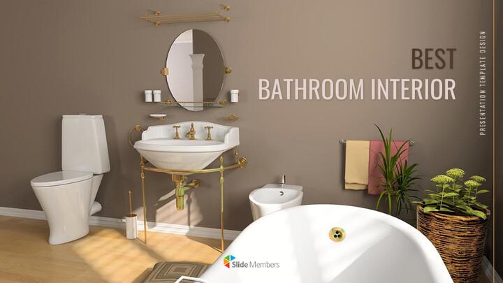 Best Bathroom Interior Google Slides Template Design_01