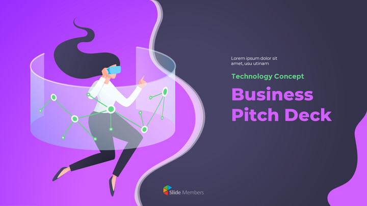 Technology Concept Business Pitch Deck Google presentation_01