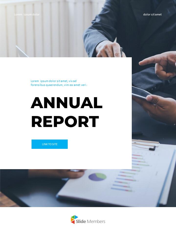 연간 보고서 맞춤형 구글 슬라이드_01