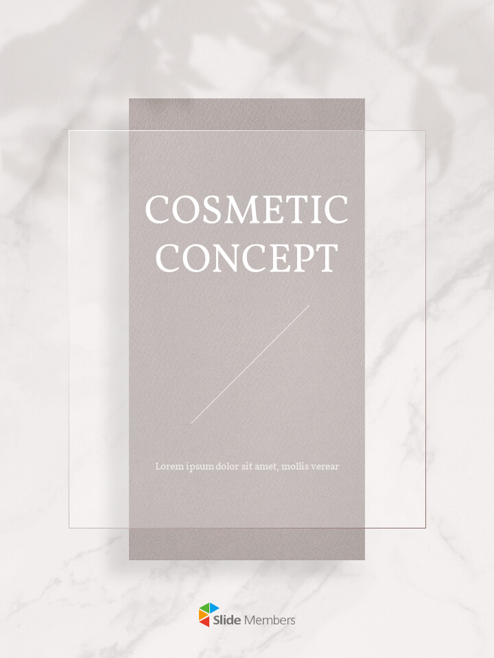 Cosmetic Brand <span class=\'highlight\'>Concept</span> Vertical Design PowerPoint Presentation Slides_01