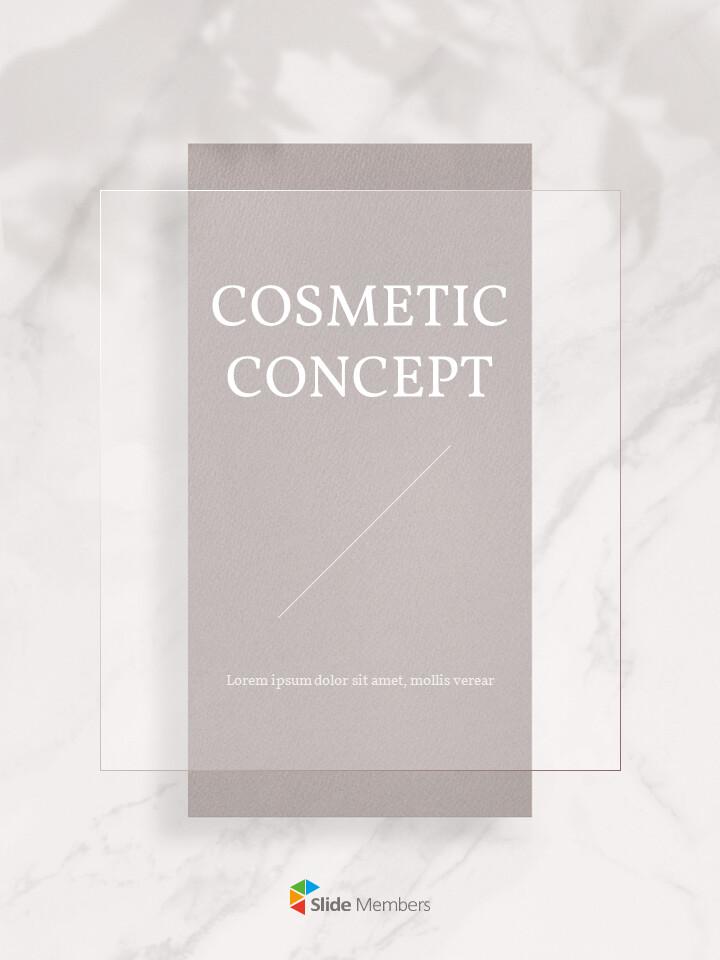화장품 브랜드 컨셉 세로형 디자인 파워포인트 프레젠테이션 슬라이드_01