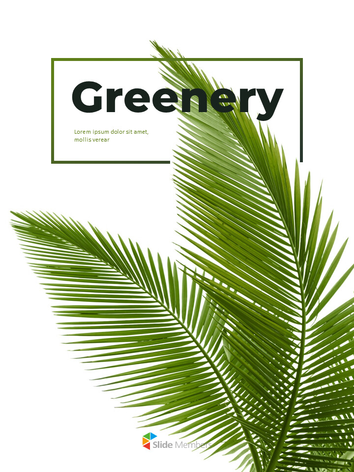 Greenery Vertical Slide Design Business Strategy PPT_01