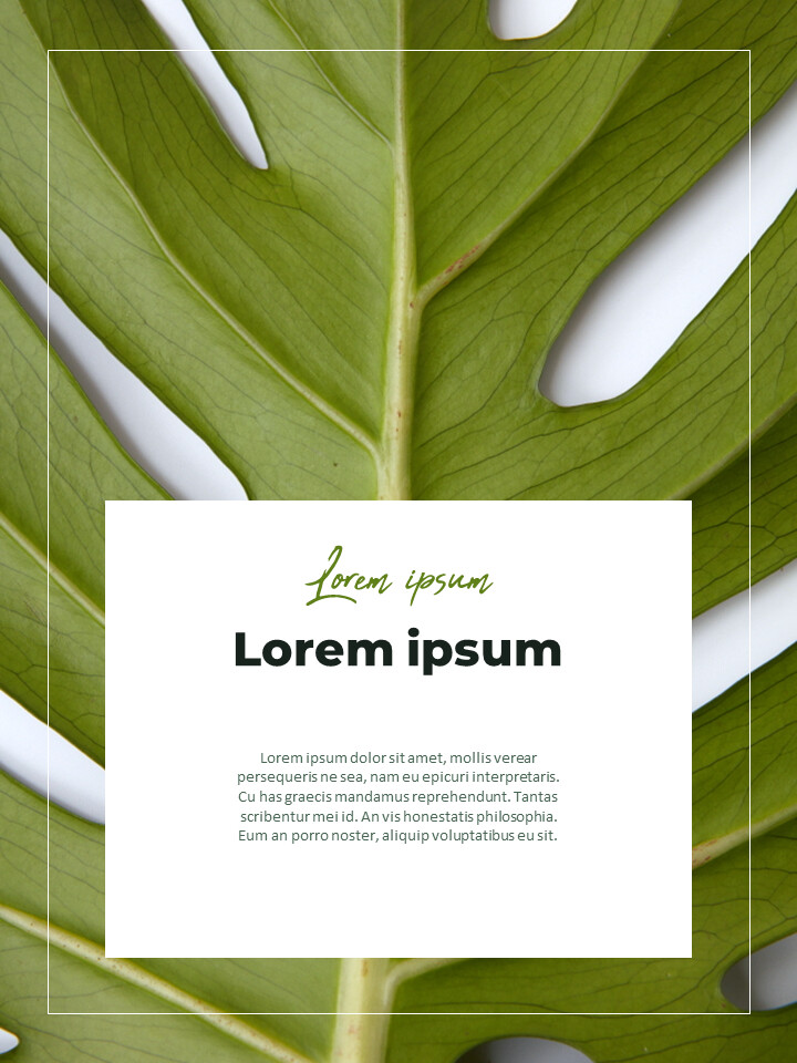 Greenery Vertical Slide Design Business Strategy PPT_02