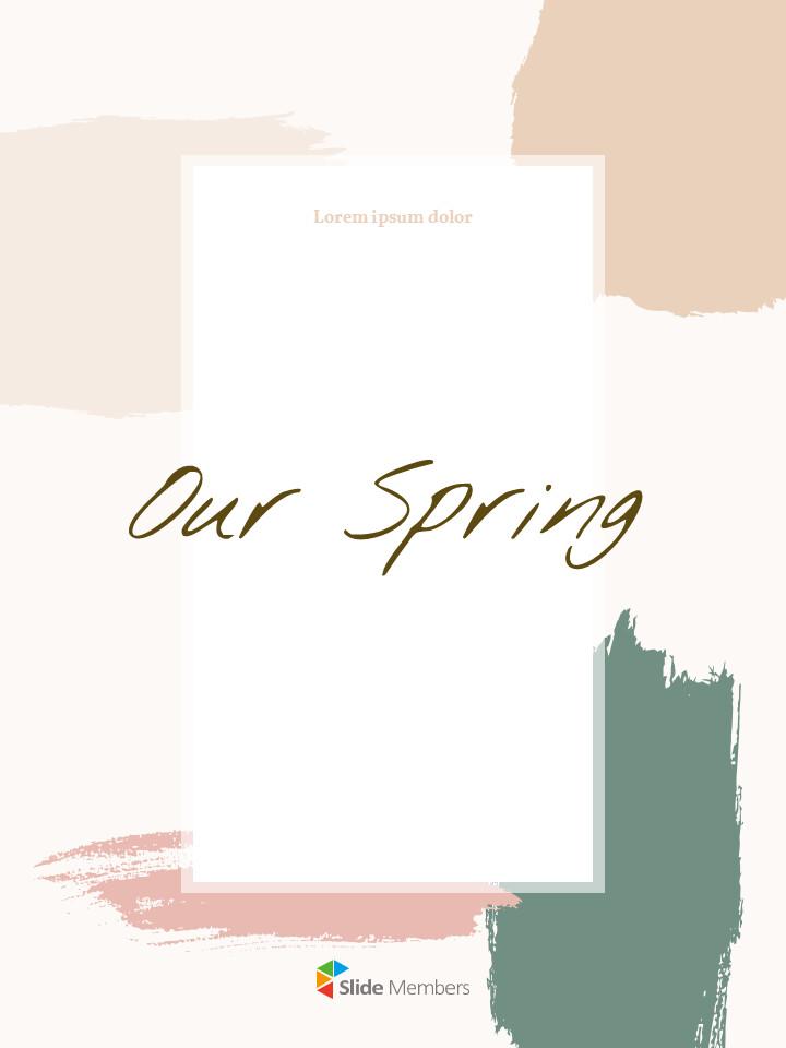 우리의 봄 컨셉 세로형 프레젠테이션용 PowerPoint 템플릿_01