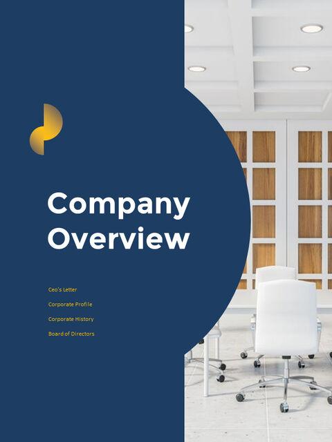 연례 보고서 클린 디자인 파워포인트 템플릿_02