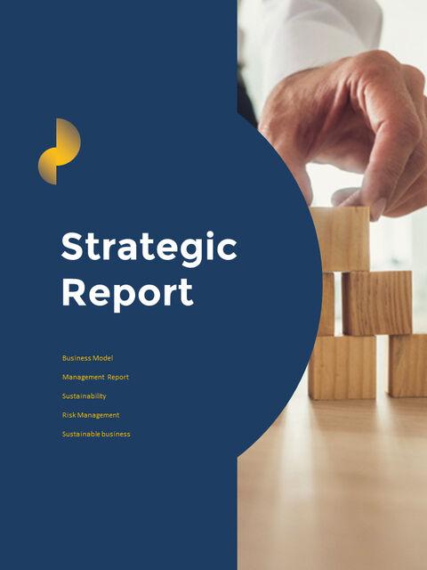연례 보고서 클린 디자인 파워포인트 템플릿_14