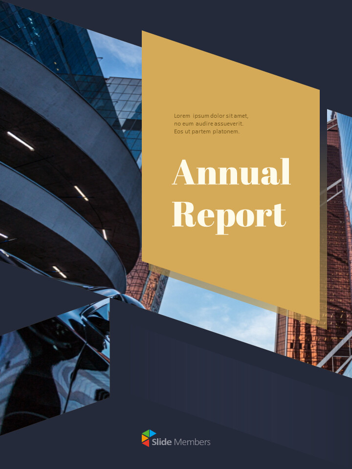 Dark & Gold Concept Annual Report Easy PowerPoint Design_01