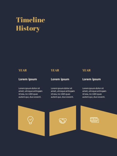 Dark & Gold Concept Annual Report Easy PowerPoint Design_03