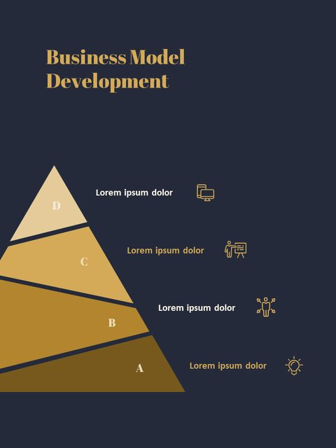 Dark & Gold Concept Annual Report Easy PowerPoint Design_04