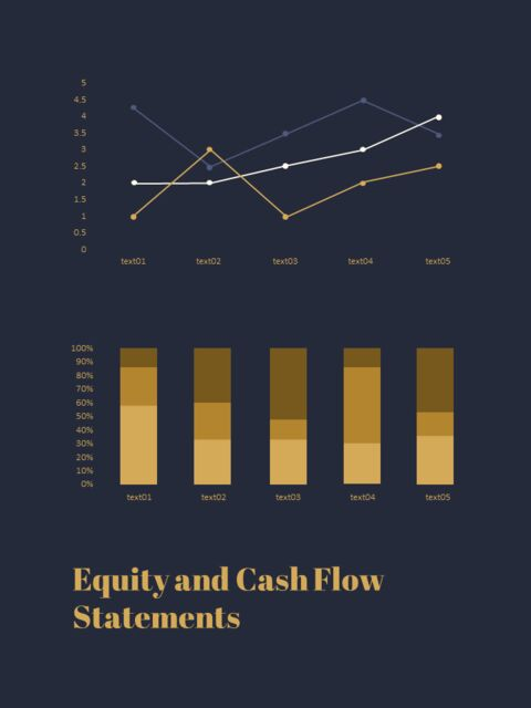 Dark & Gold Concept Annual Report Easy PowerPoint Design_05