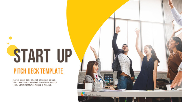 Startup Pitch Deck Circle Design Template PowerPoint to Google Slides_01