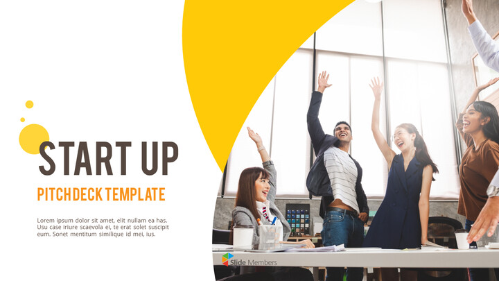 Startup Pitch Deck Circle Design Template Simple Templates_01