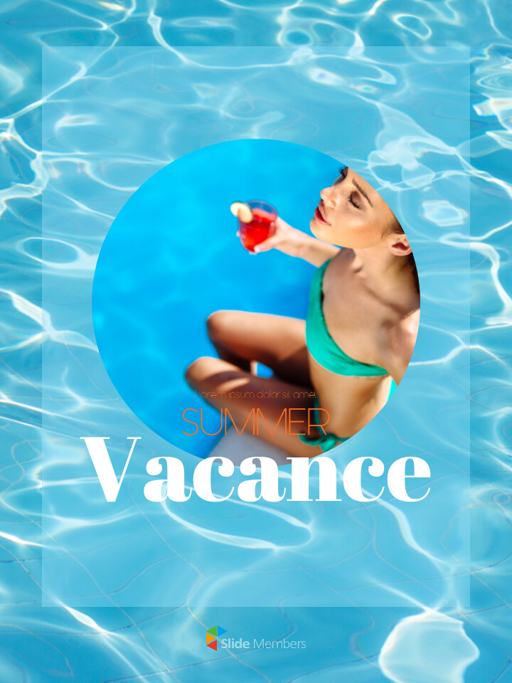 Summer Vacance Vertical PPT Templates Simple Design_01