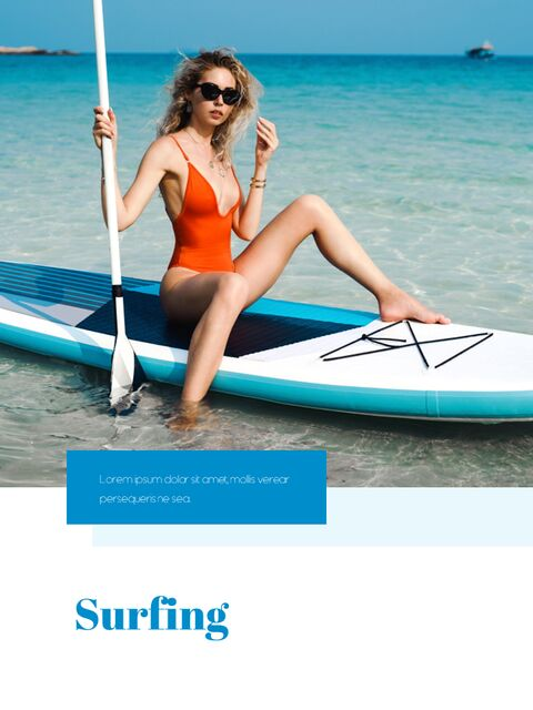 Summer Vacance Vertical PPT Templates Simple Design_03