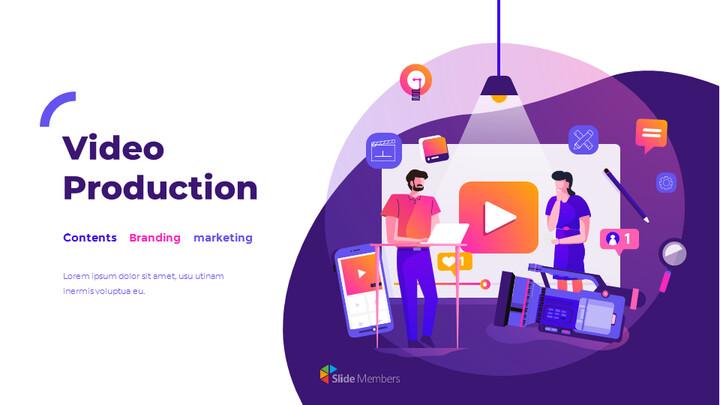 비디오 제작 그룹 피치덱 프레젠테이션용 Google 슬라이드 테마_01