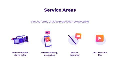 비디오 제작 그룹 피치덱 프레젠테이션용 Google 슬라이드 테마_02