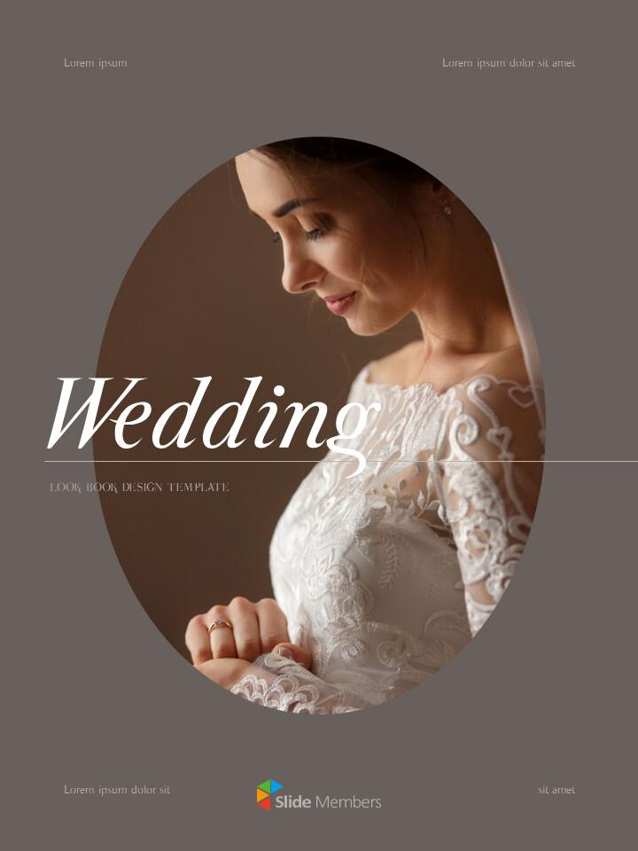 Wedding Theme Vertical PowerPoint Presentation Design_01