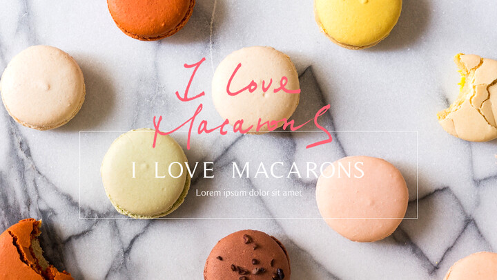 Macarons Simple PowerPoint Design_01