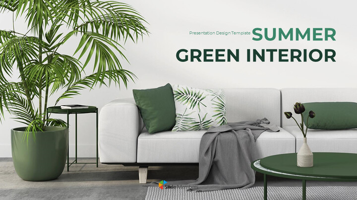 Summer Green Interior Simple Google Templates_01