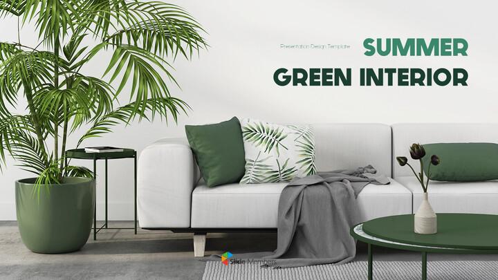 Summer Green Interior Slide PPT_01