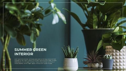 Summer Green Interior Slide PPT_12