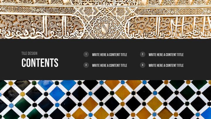 Tile Design PPT Background_02