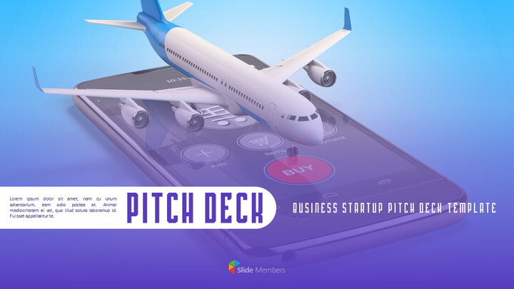 Airline APP Startup Pitch Deck Animated Simple Templates_01