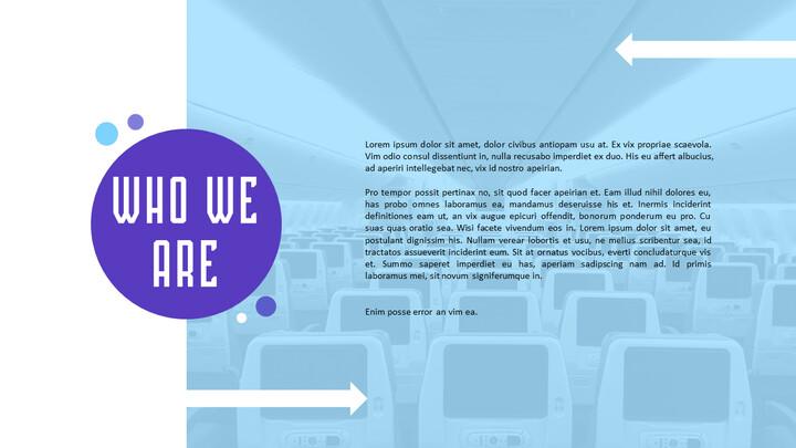Plantillas sencillas animadas de presentación de lanzamiento de aplicaciones de aerolíneas_02