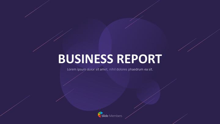 Presentazione animata PPT di progettazione di report aziendali_01