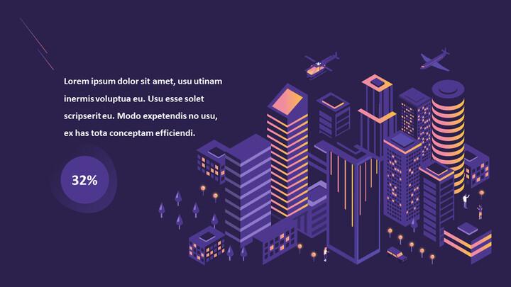Presentazione animata PPT di progettazione di report aziendali_02