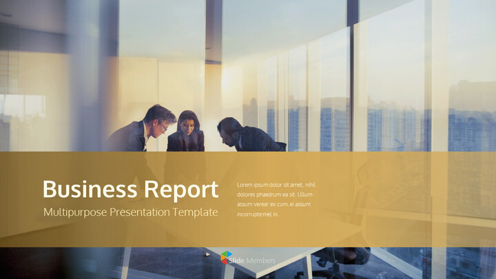 Business Report Easy PPT Template Animated Slides_01