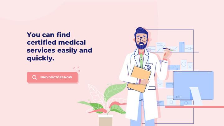 모바일 의료 서비스 쉬운 애니메이션 슬라이드_02