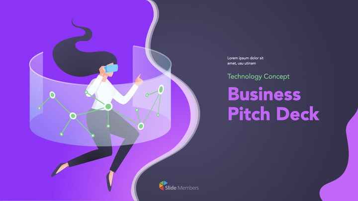 Technology <span class=\'highlight\'>Concept</span> Business Pitch Deck iMac Keynote_01