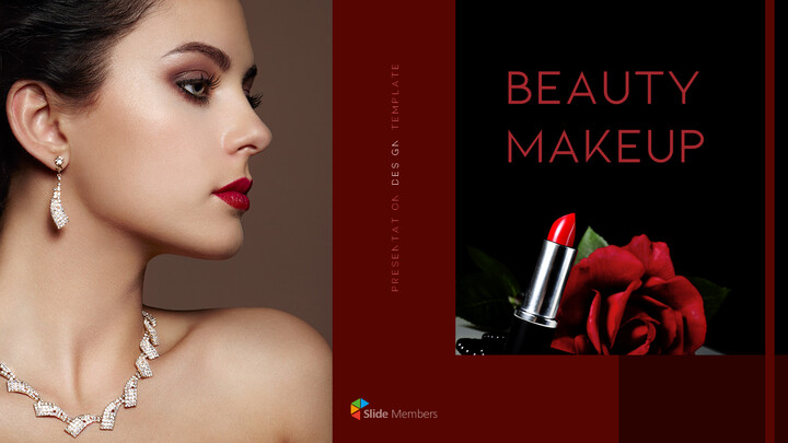 Beauty Makeup PowerPoint Templates Multipurpose Design_01