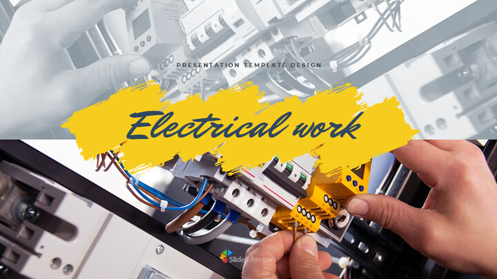 전기 작업 심플한 프레젠테이션 Google 슬라이드 템플릿_01