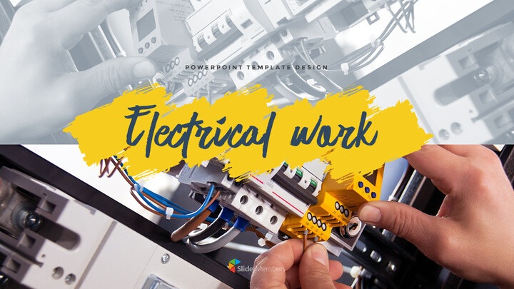 Electrical work Templates PPT_01
