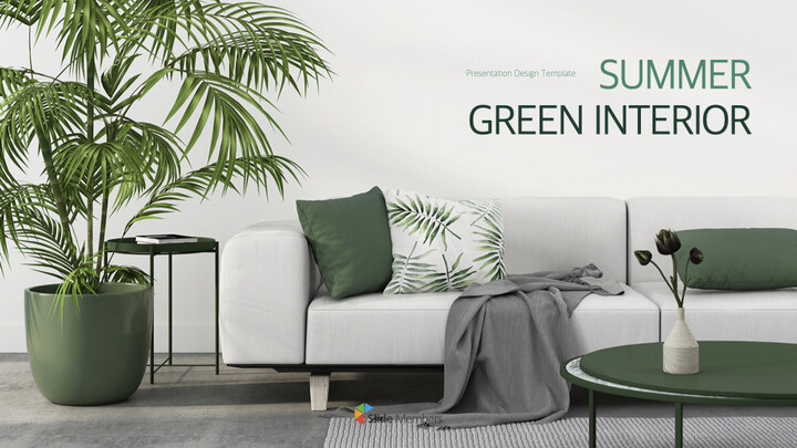 Summer Green Interior Theme Keynote Design_01